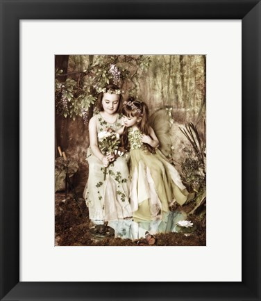 Framed Fairies in Forest Print