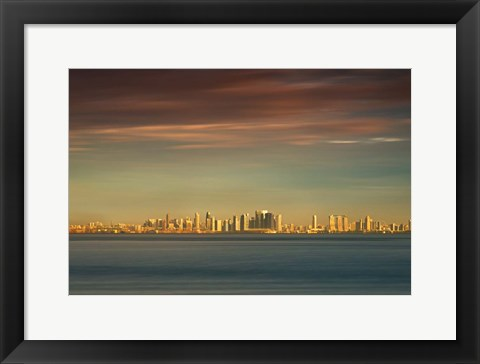 Framed Sunrise Across the Sea Print