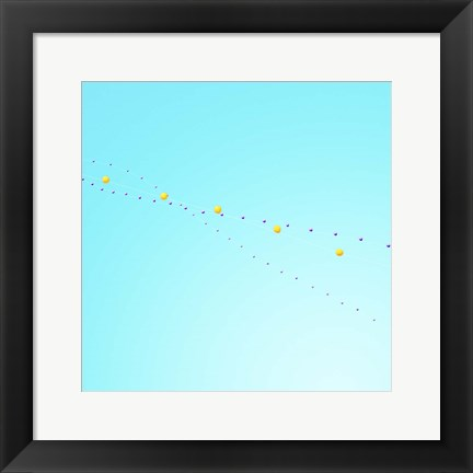 Framed Balloon Chain 2 Print