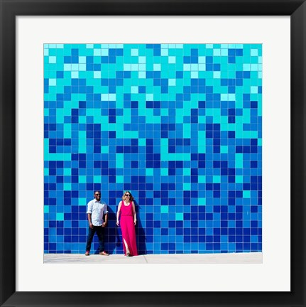 Framed Blue Lovers Print
