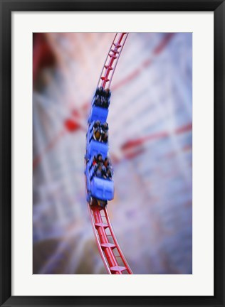 Framed Downhill Rollercoaster Action Shot Print
