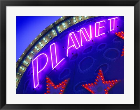 Framed Lit Up Carnival Game Marquee Print