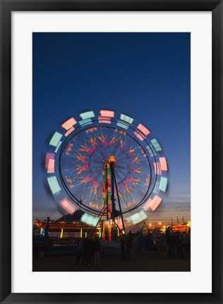 Framed Lighted Ferriswheel in Motion Print