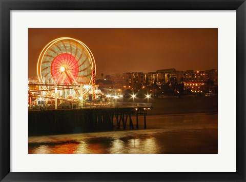 Framed Carnival on a Pier Print