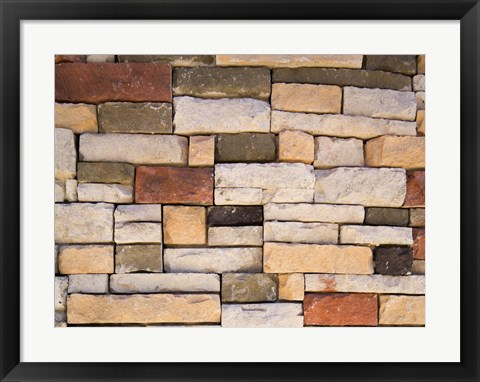 Framed Multi Colored Stone Wall Print