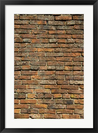 Framed Close up of Multi Colored Brick Wall Print