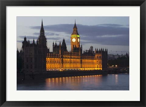 Framed Buckingham Palace at Night Print