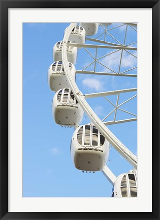 Framed White Bucket Ferris Wheel Print