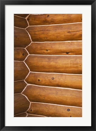 Framed Close up of Log Cabin Wall Print
