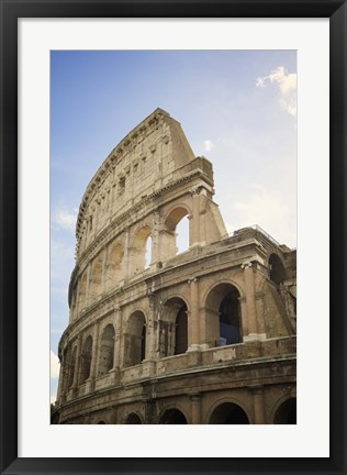 Framed Collaseum against a Blue Sky Print