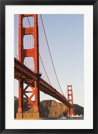 Framed Golden Gate Bridge against a Blue Sky Print