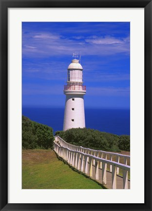Framed Lighhouse Against a Clear Blue Sky Print