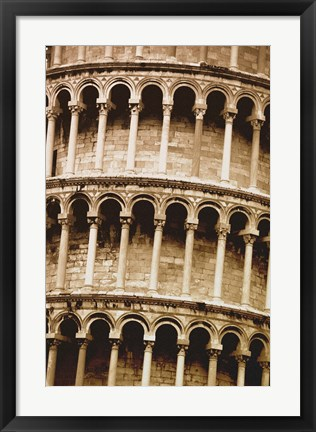 Framed Architectural Close up of Colleseum Print