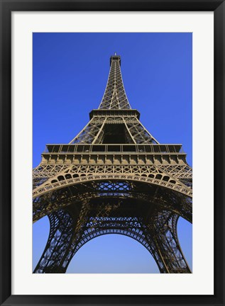 Framed View from the Bottom of the Eiffel Tower Print