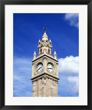 Framed Watch Tower Against a Blue Sky Print