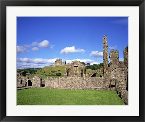 Framed Stone Ruins Surrounded by Greenery Print