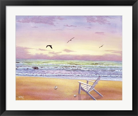 Framed Beach Colors Print