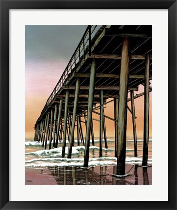 Framed Vertical Pier Print