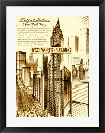 Framed New York 75 Print