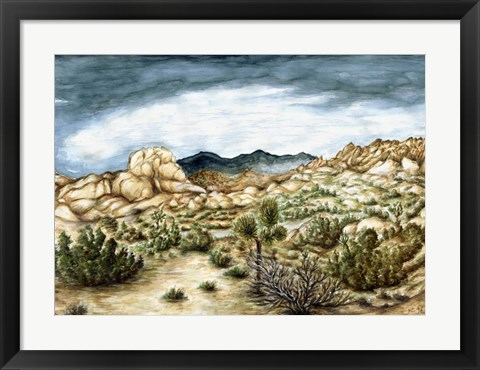 Framed Joshua Trees Print
