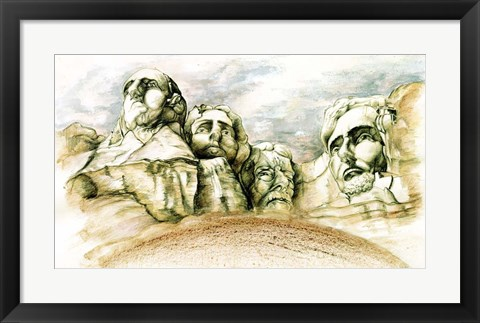 Framed Mount Rushmore Print