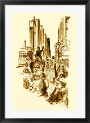 Framed New York 5th Avenue Print