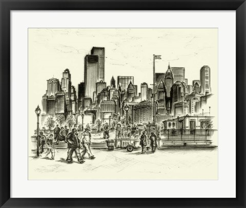 Framed New York Battery Park Print