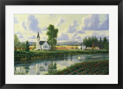 Framed Conway Church Print