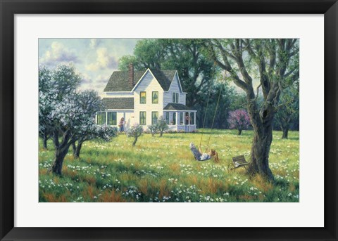 Framed Orchard Swing Print