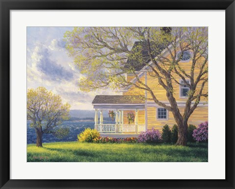 Framed Home By The Sea Print