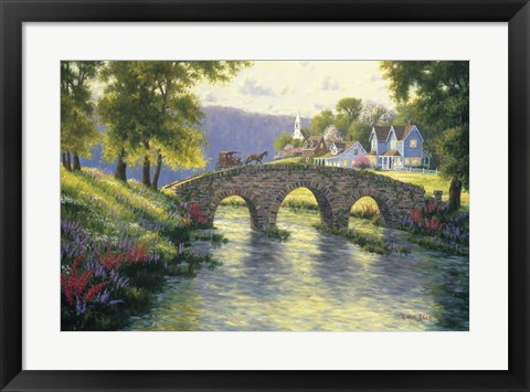 Framed Old Stone Bridge Print