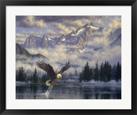 Framed Majestic Fisherman Print