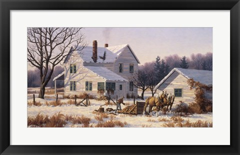 Framed Winter Chores Print