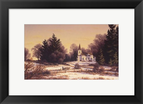 Framed Crisp Winter Morning Print