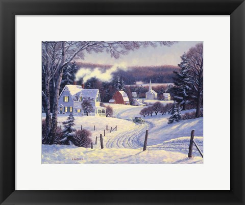 Framed Mid Winter Afternoon Print