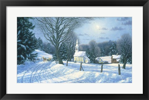 Framed Afternoon Sleigh Ride Print