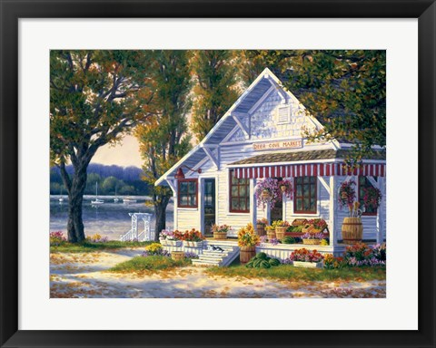 Framed Deer Cove Market Print
