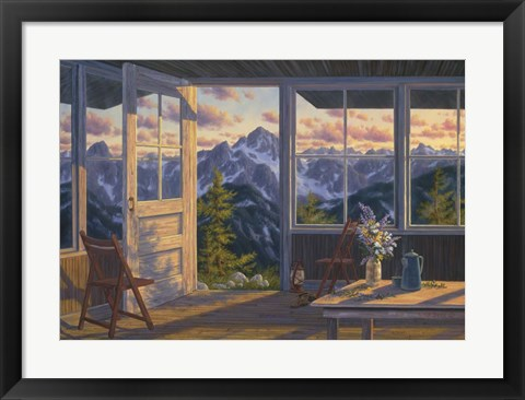 Framed Last Light At Winchester Lookout Print
