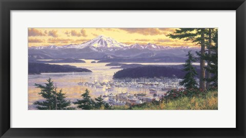 Framed Friday Harbor Print
