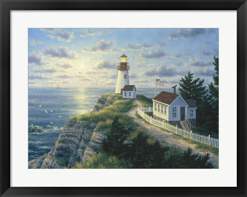 Framed Cape Disappointment Lighthouse Print