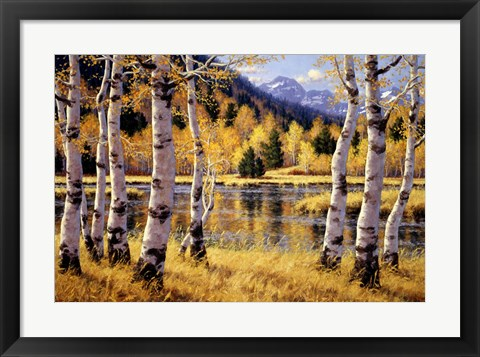 Framed Autumn Reflections Print