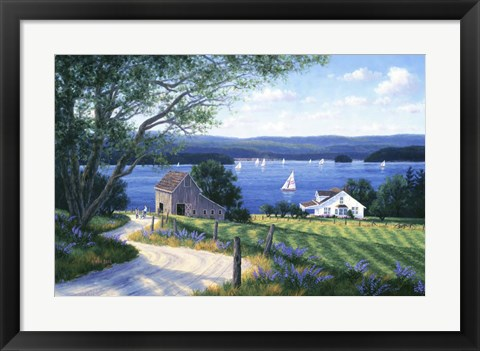 Framed Summer In The Islands Print