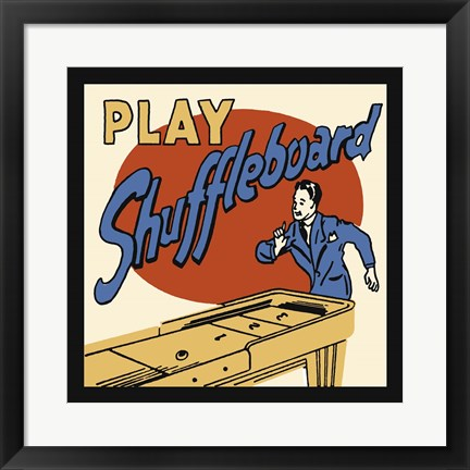 Framed Play Shuffleboard Print