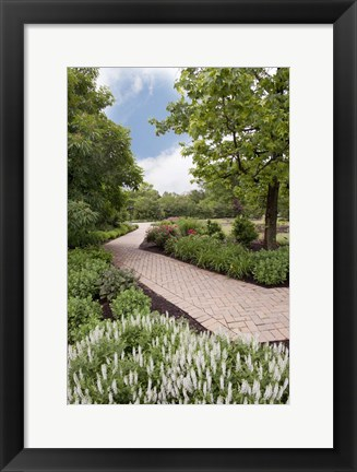 Framed Pathway at Franklin Park, Columbus, Ohio 10 Print