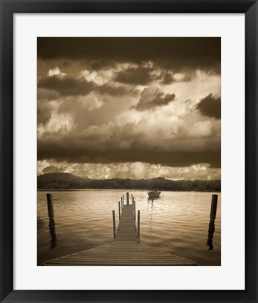 Framed Sunset at the Pier, Pentwater, Michigan 10 Print