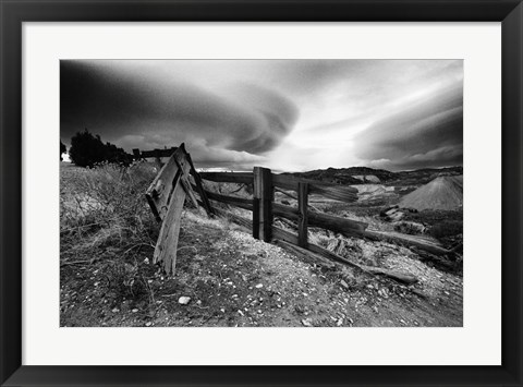 Framed Broken Fence, Virginia City, Nevada 74 Print