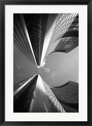 Framed Building Abstract, New York City 80 Print