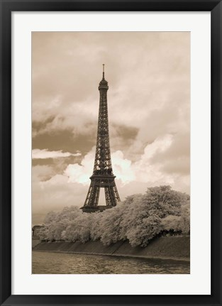 Framed Eiffel Tower #6, Paris, France 07 Print