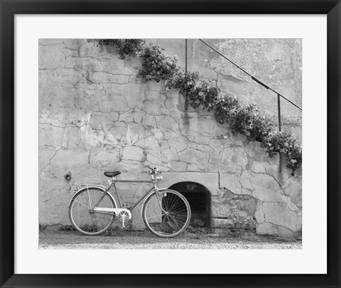 Framed Bicycle & Cracked Wall, Einsiedeln, Switzerland 04 Print