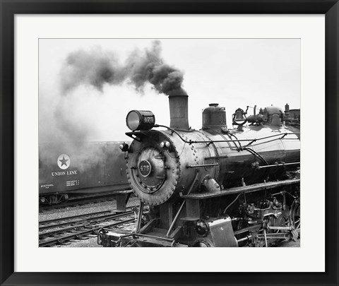 Framed Locomotive, Ohio 85 Print